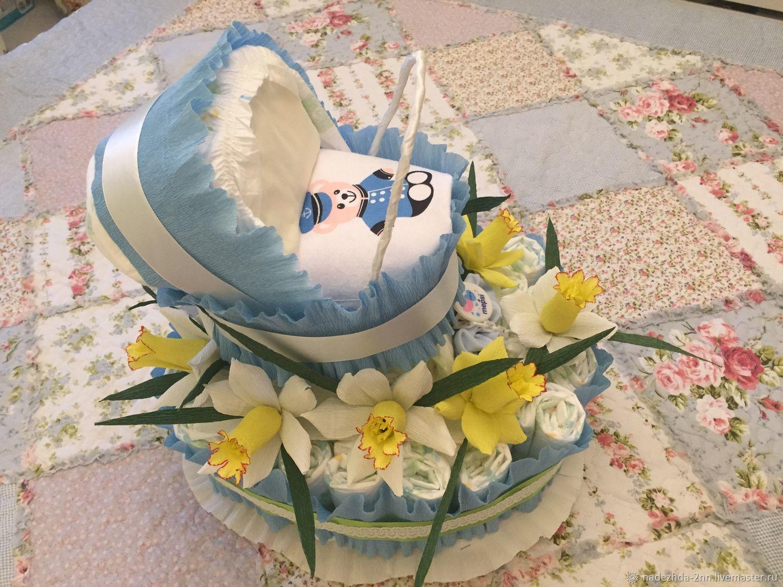 Торт из памперсов, Подарки, Санкт-Петербург, Фото №1