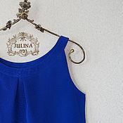 """Одежда ручной работы. Ярмарка Мастеров - ручная работа Блузка шелковая """"Ультрамарин"""". Handmade."""