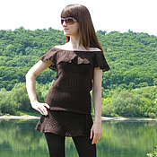 Одежда handmade. Livemaster - original item Tunic dress CHOCOLATE. Handmade.
