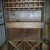 Для дома и интерьера ручной работы. Ярмарка Мастеров - ручная работа Винный шкаф-стеллаж. Handmade.