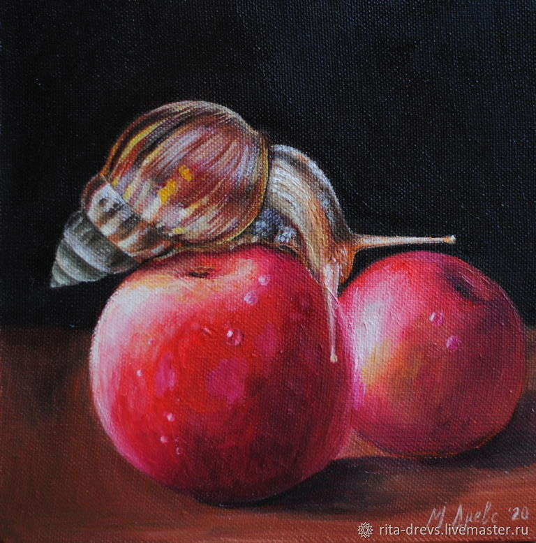 Oil painting Red Apples, Pictures, Rostov-on-Don,  Фото №1