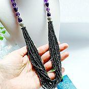 Украшения handmade. Livemaster - original item Necklace with amethyst and hematite. Handmade.