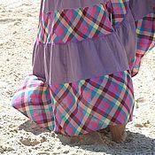 Одежда ручной работы. Ярмарка Мастеров - ручная работа Юбка длинная Сирень. Handmade.