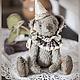 Мишки Тедди ручной работы. Ярмарка Мастеров - ручная работа. Купить медведь тедди  Гейл. Handmade. Серый, цирк, шплинты