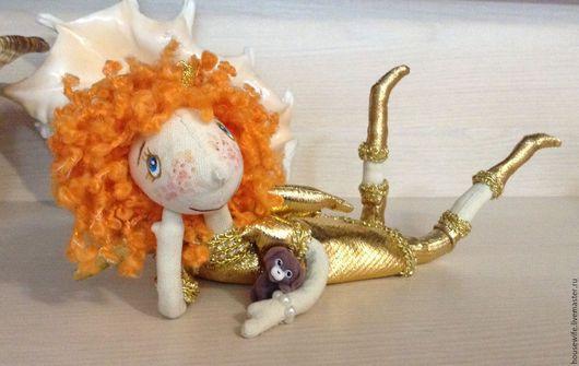 Куклы тыквоголовки ручной работы. Ярмарка Мастеров - ручная работа. Купить Кукла интерьерная на каркасе Золотой Солнечный Ангел. Handmade.