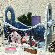 """Подарки к праздникам ручной работы. Ярмарка Мастеров - ручная работа короб-конфетница для сладостей """"Зимняя ночь"""". Handmade."""