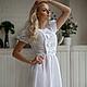 """Платья ручной работы. Платье """"Варенька white"""". Масютина Олеся. Ярмарка Мастеров. Платье из хлопка, платье в отпуск"""