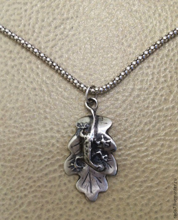 Silver pendant 'Salamander', Pendants, St. Petersburg,  Фото №1