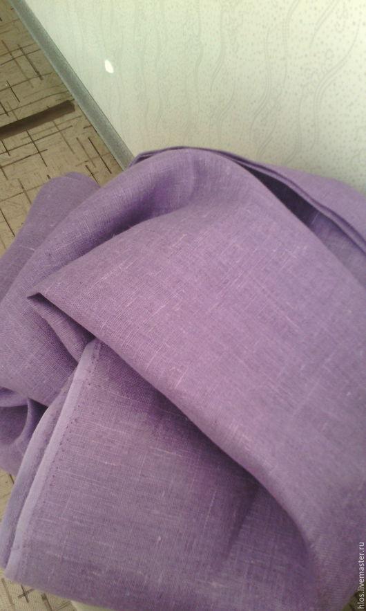 Текстиль, ковры ручной работы. Ярмарка Мастеров - ручная работа. Купить интерьерный лён. Handmade. Сиреневый, для дома и интерьера