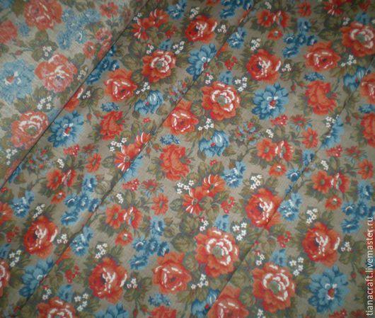 Ткань `Летние цветы`, ширина 150 см
