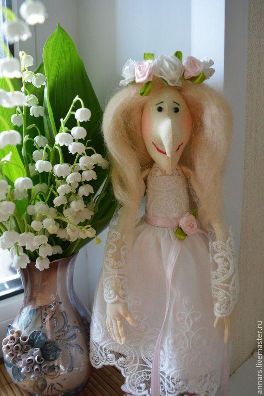 Сказочные персонажи ручной работы. Ярмарка Мастеров - ручная работа. Купить Бабулька-невеста. Handmade. Белый, баба яга