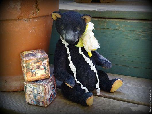 Мишки Тедди ручной работы. Ярмарка Мастеров - ручная работа. Купить Мишка Тедди Manoo. Черный плюшевый медведь. Коллекционный. Handmade.