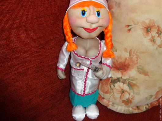 Коллекционные куклы ручной работы. Ярмарка Мастеров - ручная работа. Купить Кукла- медсестра. Handmade. Медсестра, кукла из капрона, синтепон