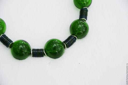 """Колье, бусы ручной работы. Ярмарка Мастеров - ручная работа. Купить Колье """"Крона"""". Handmade. Зеленый, роща, стеклянные бусины"""