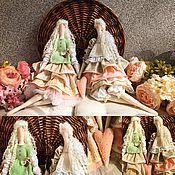 Куклы и игрушки ручной работы. Ярмарка Мастеров - ручная работа Лили и Паулина интерьерные текстильные куколки. Handmade.