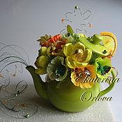 Цветы и флористика ручной работы. Ярмарка Мастеров - ручная работа К чаю... (букет из конфет). Handmade.