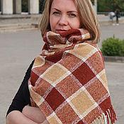 Аксессуары handmade. Livemaster - original item Plaid tweed scarf male female red yellow. Handmade.