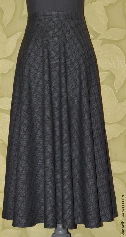 Юбки ручной работы. Ярмарка Мастеров - ручная работа. Купить юбка Графит полусолнце. Handmade. Темно-серый, юбка макси