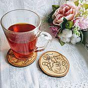 Для дома и интерьера handmade. Livemaster - original item Coasters for glasses, wooden coasters