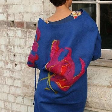 """Одежда ручной работы. Ярмарка Мастеров - ручная работа Пальто """"Дикие лилии"""". Handmade."""