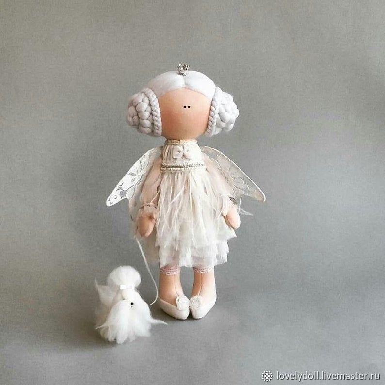 Angel and Maltese Textile doll handmade, Dolls, Kiev,  Фото №1
