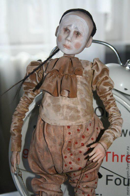 Коллекционные куклы ручной работы. Ярмарка Мастеров - ручная работа. Купить Клоун Филиппо. Handmade. Бежевый, клоун, ЛивингДолл