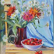 Картины и панно handmade. Livemaster - original item Oil painting. Strawberry time. Handmade.