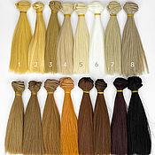 Материалы для творчества handmade. Livemaster - original item Hair for dolls: Hair-tress for dolls straight 15 cm. Handmade.