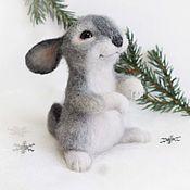 Куклы и игрушки handmade. Livemaster - original item Rabbit Romka Interior felted toy. Handmade.
