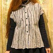 """Одежда ручной работы. Ярмарка Мастеров - ручная работа жилет войлочный"""" грация"""". Handmade."""