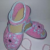 Обувь ручной работы. Ярмарка Мастеров - ручная работа Сандалики Розочка. Handmade.