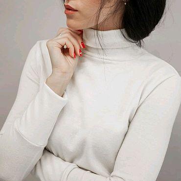 Одежда ручной работы. Ярмарка Мастеров - ручная работа Водолазка женская из шерсти Ofresa. Handmade.