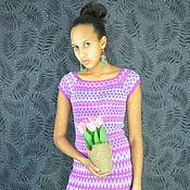 Одежда ручной работы. Ярмарка Мастеров - ручная работа Платье с коротким рукавом из бамбука. Handmade.