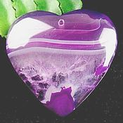 Пурпурное сердце. Агат с друзой.