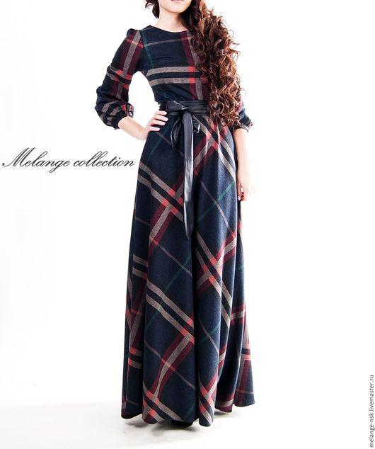 Платья ручной работы. Ярмарка Мастеров - ручная работа. Купить Теплое платье в пол. Handmade. Комбинированный, теплое платье