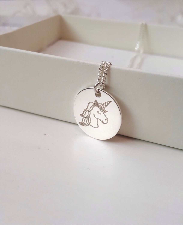 Серебряный медальон «Единорог». Медальон из серебра с вашей картинкой, Медальон, Ниш,  Фото №1