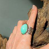 Rings handmade. Livemaster - original item chrysoprase. Ring. Handmade.
