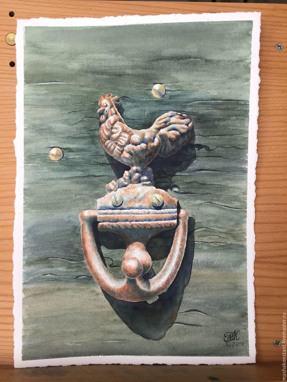 """Акварель """"Дверь в Прованс"""", Город, Санкт-Петербург, Фото №1"""