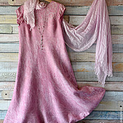 """Одежда ручной работы. Ярмарка Мастеров - ручная работа Платье - сарафан """" Первоцвет"""" Нуно-войлок. Handmade."""