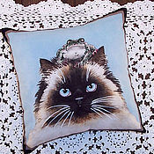 Для дома и интерьера ручной работы. Ярмарка Мастеров - ручная работа Кошка с лягушечкой. Handmade.
