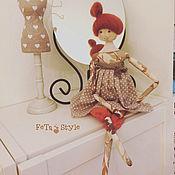 Куклы и игрушки handmade. Livemaster - original item Red autumn Petite dolls. Handmade.