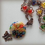 """Украшения ручной работы. Ярмарка Мастеров - ручная работа Кулон """"Цветочный"""". Handmade."""