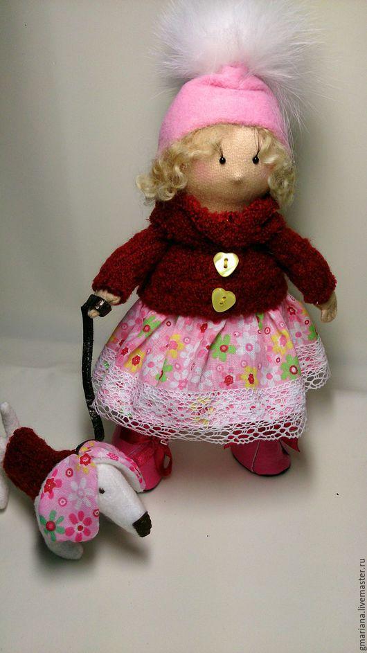 Коллекционные куклы ручной работы. Ярмарка Мастеров - ручная работа. Купить Кукла текстильная. Бусинка в розовом.. Handmade.