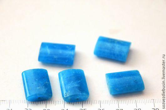 Для украшений ручной работы. Ярмарка Мастеров - ручная работа. Купить Кварц синий, прямоугольник, размер 20х15мм. Handmade. Синий