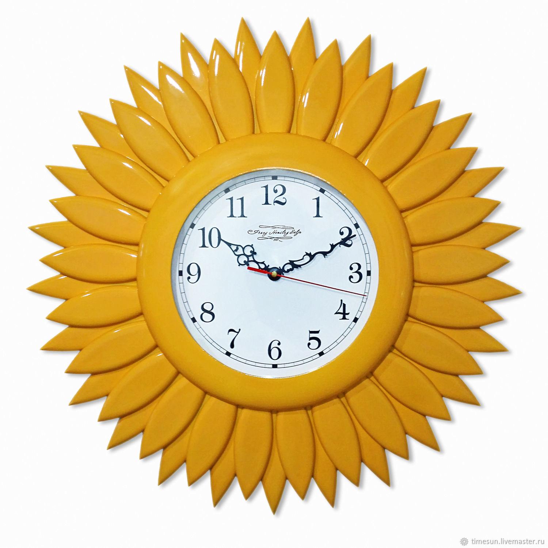 """Настенные часы """"Подсолнух"""", Часы классические, Новочеркасск,  Фото №1"""