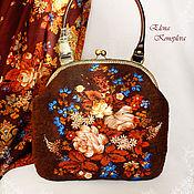 Сумки и аксессуары handmade. Livemaster - original item Bag Summer twilight felted wool scarf. Handmade.