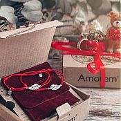 Украшения handmade. Livemaster - original item Bracelet-thread: Pair of Wings bracelets, bracelets for lovers. Handmade.