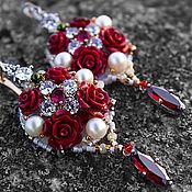 """Украшения ручной работы. Ярмарка Мастеров - ручная работа Позолоченные серьги по мотивам Dolce & Gabbana  """" Rush """". Handmade."""