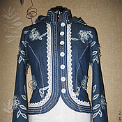 """Одежда ручной работы. Ярмарка Мастеров - ручная работа Летняя бохо-куртка """"Мечта цвета """"джинс"""". Handmade."""