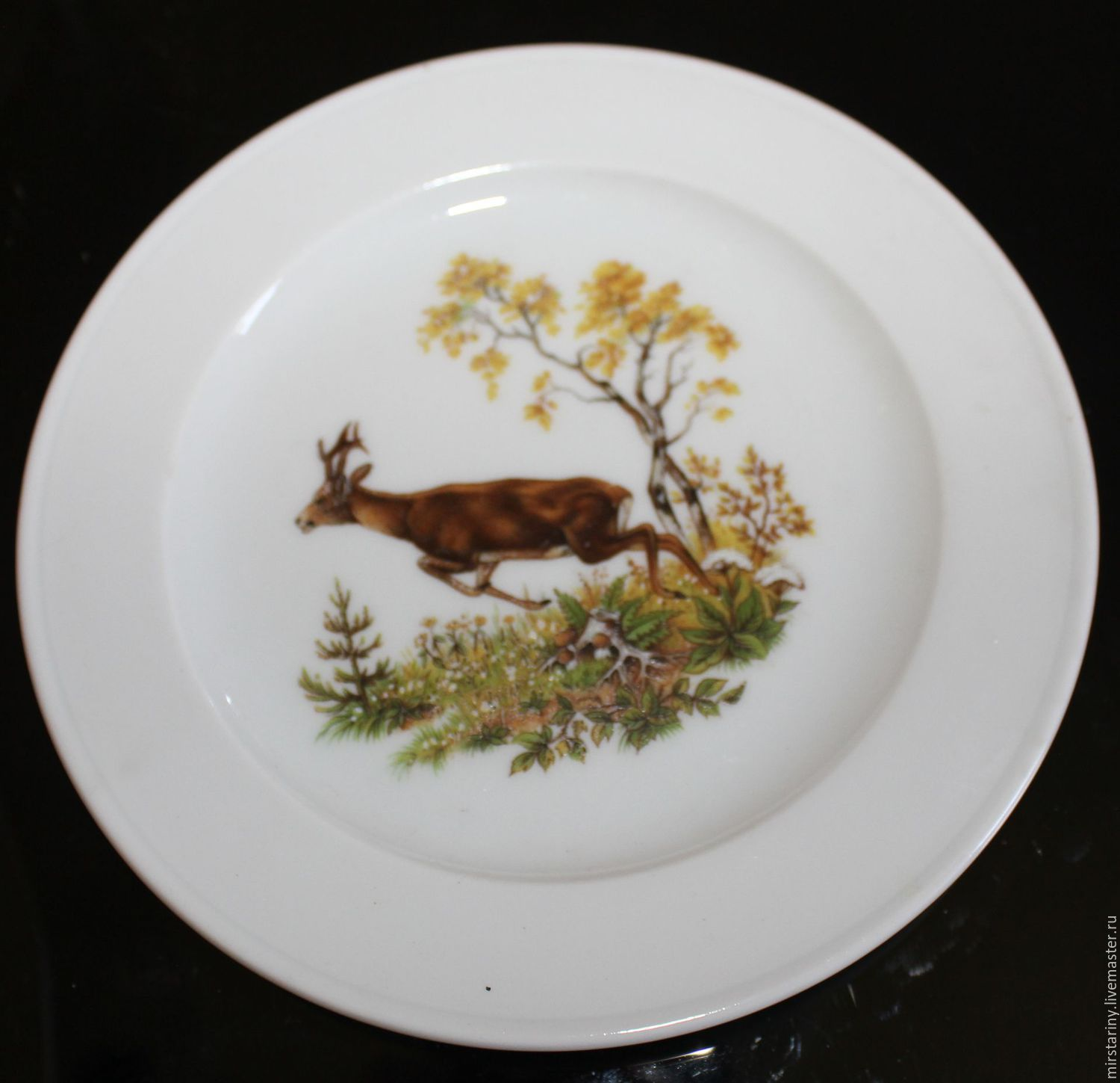 Two vintage wall plates with animals, Bauscher Weiden, Germany, Vintage interior, Moscow,  Фото №1